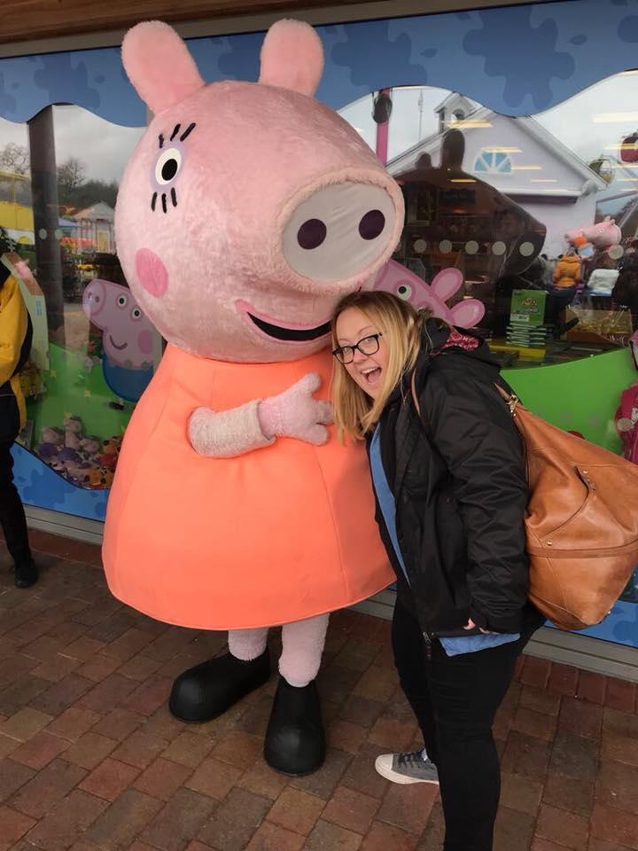 Caroline meets Peppa Pig